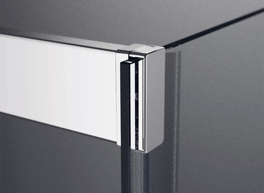 Attacco profilo in vetro per box doccia