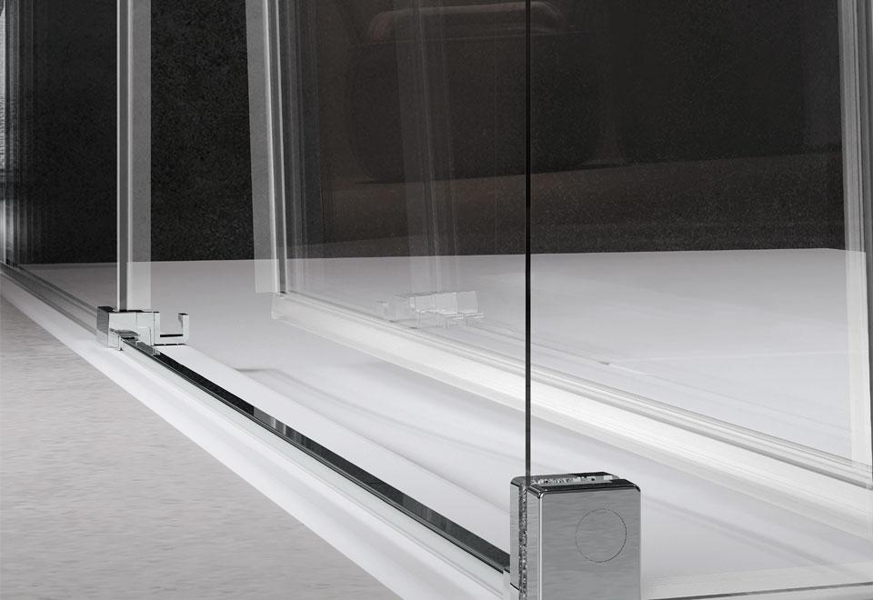 Sistema di sgancio rapito per anta per box doccia